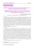 Nghiên cứu sơ bộ tích tụ kim loại Cadimi trên nghêu lụa, điệp quạt trong điều kiện thí nghiệm