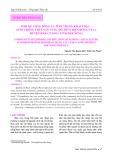 Sinh kế cộng đồng và tình trạng khai thác - nuôi trồng thủy sản vùng hồ thủy điện Đồng Nai 3, huyện Đăk G'Long, tỉnh Đăk Nông