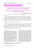 Các nhân tố ảnh hưởng đến năng suất nuôi tôm thẻ chân trắng thâm canh tại tỉnh Khánh Hòa
