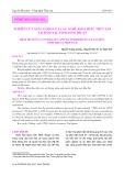 Nghiên cứu sản lượng của các nghề khai thác thủy sản tại Đầm Nại, tỉnh Ninh Thuận