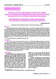 Đánh giá nguy cơ đối với độc tố gây liệt cơ PSP (Paralytic Shellfish Poisoning) do tiêu thụ nhuyễn thể hai mảnh vỏ của người dân thành phố Nha Trang