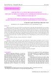 Ảnh hưởng của nồng độ Oligochitosan tới chất lượng của măng tây (Asparagus Officinalis L.) theo thời gian bảo quản