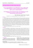 Hoạt tính probiotic, đặc điểm phân loại và điều kiện nuôi thích hợp của chủng Bacillus pumilus B3.10.2 phân lập từ tôm hùm bông