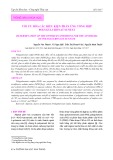 Tối ưu hóa các điều kiện phản ứng tổng hợp Polyguluronat sunfat