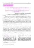 Lựa chọn phương pháp phân lập thích hợp cho tảo Microcystis aeruginosa