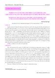 Nghiên cứu về mật độ coliform và Escherichia coli trên tôm sú nguyên liệu khi bảo quản ở nhiệt độ dương thấp