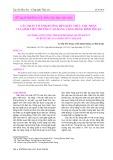 Các nhân tố ảnh hưởng đến kiến thức thu nhận của sinh viên Trường Cao đẳng Cộng đồng Bình Thuận