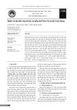 Nghiên cứu đặc điểm nông sinh học tại tỉnh Tuyên Quang