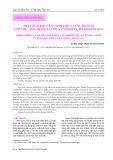 Phân tích khả năng sinh lợi của các hộ nuôi tôm thẻ chân trắng tại thị xã Ninh Hòa, tỉnh Khánh Hòa