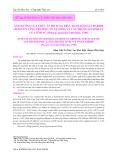 Ảnh hưởng của thức ăn bổ sung Fructo-Oligosaccharide (FOS) lên tăng trưởng, tỷ lệ sống và các thông số sinh lý của tôm sú (Penaeus monodon Fabricius, 1798)