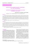 Đánh giá mức độ phân rã hữu cơ sinh học ở Cửa Bé - Nha Trang