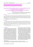 Khả năng thủy phân Phytate và Cellulose trong bã sắn của chủng Bacillus subtilis C7