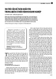 Vai trò của kế toán quản trị trong quản lý điều hành doanh nghiệp