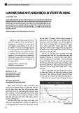 Lạm phát năm 2017: Nhận diện các yếu tố tác động