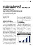 Đánh giá hiệu quả của quy định về an toàn vốn tối thiểu cho các ngân hàng ở Việt Nam