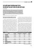 Các hiệp định thương mại tự do và vấn đề thu hút vốn FDI vào Việt Nam