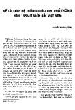Về cải cách hệ thống giáo dục phổ thông năm 1956 ở miền Bắc Việt Nam