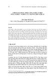 Chính sách phát triển công nghệ cơ điện nông nghiệp  - nghiên cứu trường hợp Nghệ An