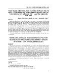 Thực trạng kiến thức, thái độ, hành vi và các yếu tố nguy cơ lây nhiễm HIV trong nhóm đồng bào dân tộc thiểu số khu vực biên giới Việt - Lào, tỉnh Điện Biên năm 2012