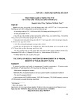 Thực trạng quản lý nước thải y tế tại 10 trại giam thuộc bộ công an năm 2012