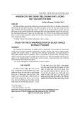 Nghiên cứu xây dựng tiêu chuẩn chất lượng của bột cao khô tỏi đen