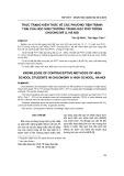 Thực trạng kiến thức về các phương tiện tránh thai của học sinh Trường Trung học phổ thông Chương Mỹ A, Hà Nội