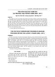 Tình hình ngộ độc nấm độc tại tỉnh Bắc Kạn trong 8 năm (2004-2011)