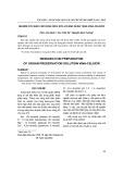 Nghiên cứu bào chế dung dịch rửa và bảo quản tạng Vina-Celsior
