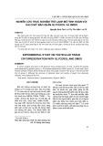 Nghiên cứu thực nghiệm trữ lạnh mô tinh hoàn với hai chất bảo quản Glycerol và DMSO