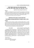 Hiện trạng giáo dục sức khỏe sinh sản cho học sinh khiếm thính việt nam (2009-2010)