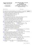 Đề thi thử THPT Quốc gia môn Lịch sử năm 2018 - THPT Đăk Song - Mã đề 132