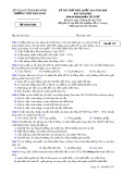 Đề thi thử THPT Quốc gia môn Lịch sử năm 2018 - THPT Đăk Song - Mã đề 357