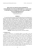 Influence of mountainous residents livelihoods to living environment (a case study in Thanh Thach commune, Tuyen Hoa district, Quang Binh province)