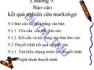 Bài giảng Nghiên cứu marketing: Chương 9 - Đại học Thương mại