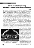 Vai trò của lễ hội truyền thống đối với phát triển du lịch ở thành phố Đồng Hới