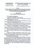 Dự án số 658/DA-UBND