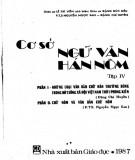 Ebook Cơ sở Ngữ văn Hán Nôm (Tập 4): Phần 1