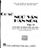 Ebook Cơ sở Ngữ văn Hán Nôm (Tập 2): Phần 1