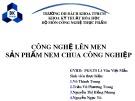 Bài giảng Công nghệ lên men - Bài: Công nghệ lên men sản phẩm nem chua công nghiệp