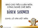 Bài giảng Công nghệ chế biến - Bài: Tìm hiểu bánh mỳ sandwich
