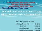Bài giảng Công nghệ lên men - Bài: Sản xuất enzyme glucoamylase bằng phương pháp lên men bề sâu