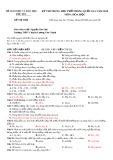 Đề thi thử THPT Quốc gia môn Hóahọc năm 2018 - Sở GD&ĐT Phú Yên
