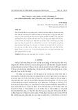 Thực trạng cuộc sống cư dân tái định cư thủy điện Bình Điền, thị xã Hương Trà, tỉnh Thừa Thiên Huế