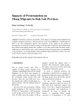 Impacts of protestantism on Mong migrants in Dak Lak province