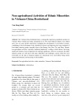Non- agricultural activities of ethnic minorities in Vietnam-China borderland