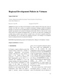 Regional development policies in Vietnam