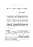 Economic Contributions of Husband and Wife in North Central Vietnam