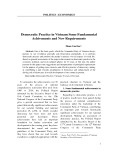 Democratic Practice in Vietnam Some Fundamental Achivements and New Requirements
