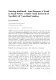 Entering adulthood - from diagnoses of youth to social policies towards them: In search of specificity of transition countries