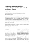 Short stories in romanised national language script in southern Vietnam early in twentieth century